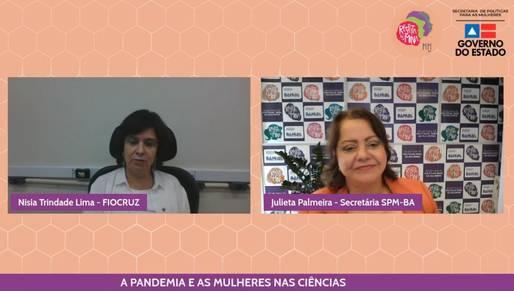 Em live da SPM-BA, presidenta da Fiocruz exalta liderança das mulheres nas pesquisas sobre covid-19