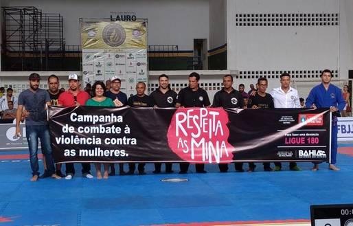 Atletas do Circuito Black Belt apoiam campanha